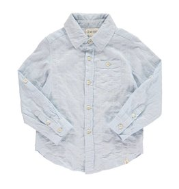 Me + Henry Pale Blue Long Sleeve Woven Shirt