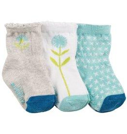 Robeez 3pk Socks - Spring Has Sprung Aqua