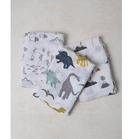 Little Unicorn Cotton Muslin Swaddle 3-Pack - Dino Friends