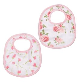 Mud Pie Muslin Bib Set, Floral Bella