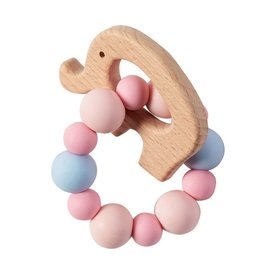 Mud Pie Teether Elephant Pink