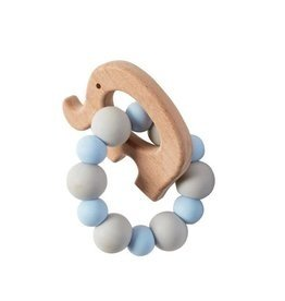 Mud Pie Teether Elephant, Blue