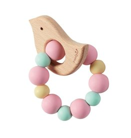 Mud Pie Teether Birdie Pink