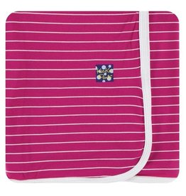 Kickee Pants Print Swaddling Blanket Tokyo Dragonfruit Stripe