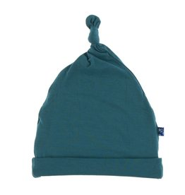Kickee Pants Solid Knot Hat Oasis 3-12M