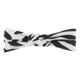 Kickee Pants Print Knot Headband - Natural Zebra Print - S