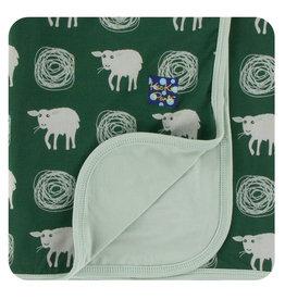 Kickee Pants Print Stroller Blanket - Topiary Tuscan Sheep