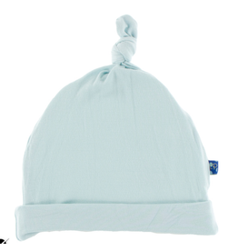 Kickee Pants Solid Knot Hat - Spring Sky - NB-3 Mo