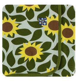 Kickee Pants Print Swaddling Blanket - Aloe Sunflower