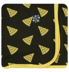 Kickee Pants Print Swaddling Blanket - Zebra Pizza