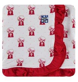 Kickee Pants Print Ruffle Toddler Blanket Natural Gumball Machine