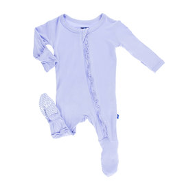 Kickee Pants Basic Classic Ruffle Footie with Zipper Lilac 0-3M