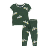Kickee Pants Print Short Sleeve Pajama Set - Topiary Italian Car 5Y