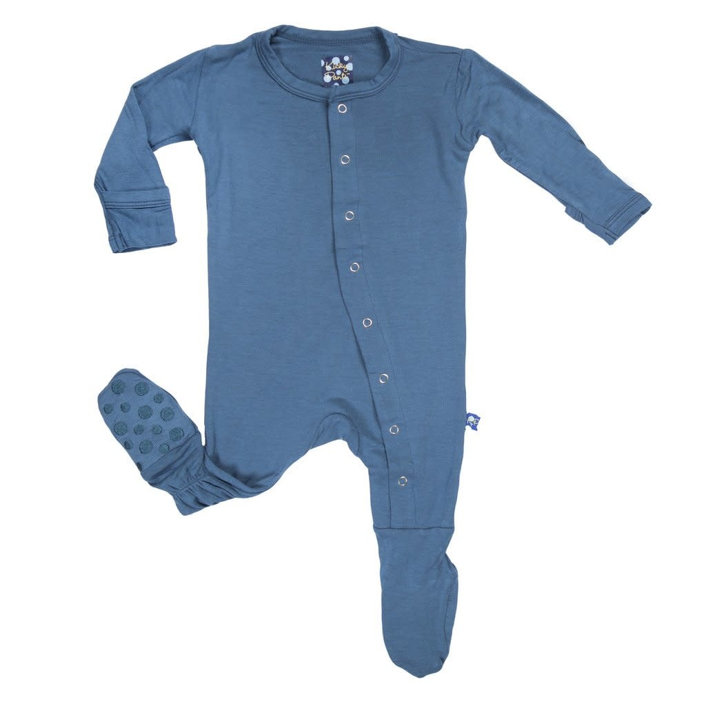 Kickee Pants Basic Footie with Snaps Twilight 0-3M