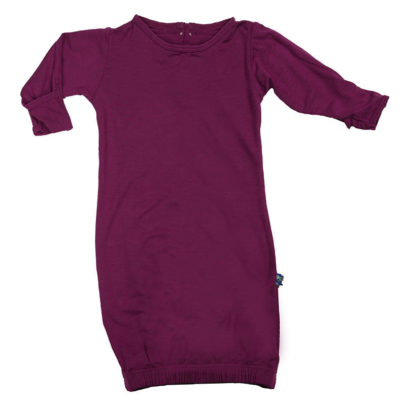 Kickee Pants Basic Layette Gown in Orchid 0-3 M