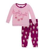 Kickee Pants Print Long Sleeve Pajama Set Dragonfuit Lantern Festival