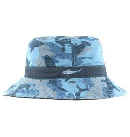 Millymook and Dozer Boys Bucket Hat - Reef Blue S