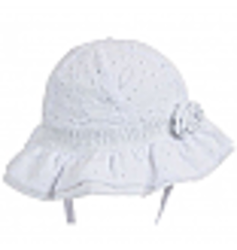 Millymook and Dozer Baby Girls Bell Hat - Agapantha White