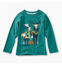Tea Collection Scandi Stag Graphic Tee - Bonsai 5