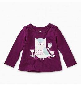 Tea Collection Hootie Cutie Graphic Tee - Cosmic Berry 9-12m