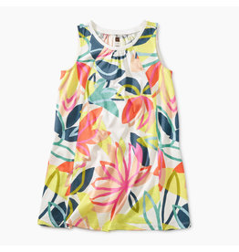 Tea Collection Printed Trapeze Dress - Tradewinds Floral