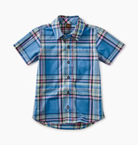 Tea Collection Madras Woven Shirt - Seabreeze