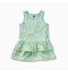 Tea Collection Pom Pom Ruffle Tank Baby Dress - Pop Lotus