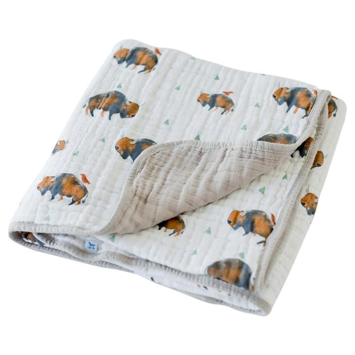 Little Unicorn Cotton Muslin Baby Quilt - Bison