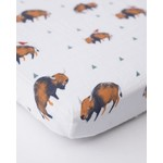 Little Unicorn Cotton Muslin Crib Sheet - Bison