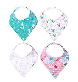 Copper Pearl Bibs - Coral Set - 4 pack