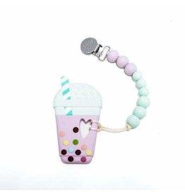 Lou Lou Lollipop Teether Set - Taro Milk Tea Lilac Mint