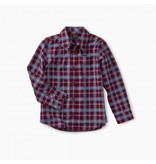 Tea Collection Lakeshore Plaid Button Shirt  2