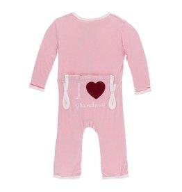 Kickee Pants I Love Grandma Layette Appliqué Coverall - Lotus