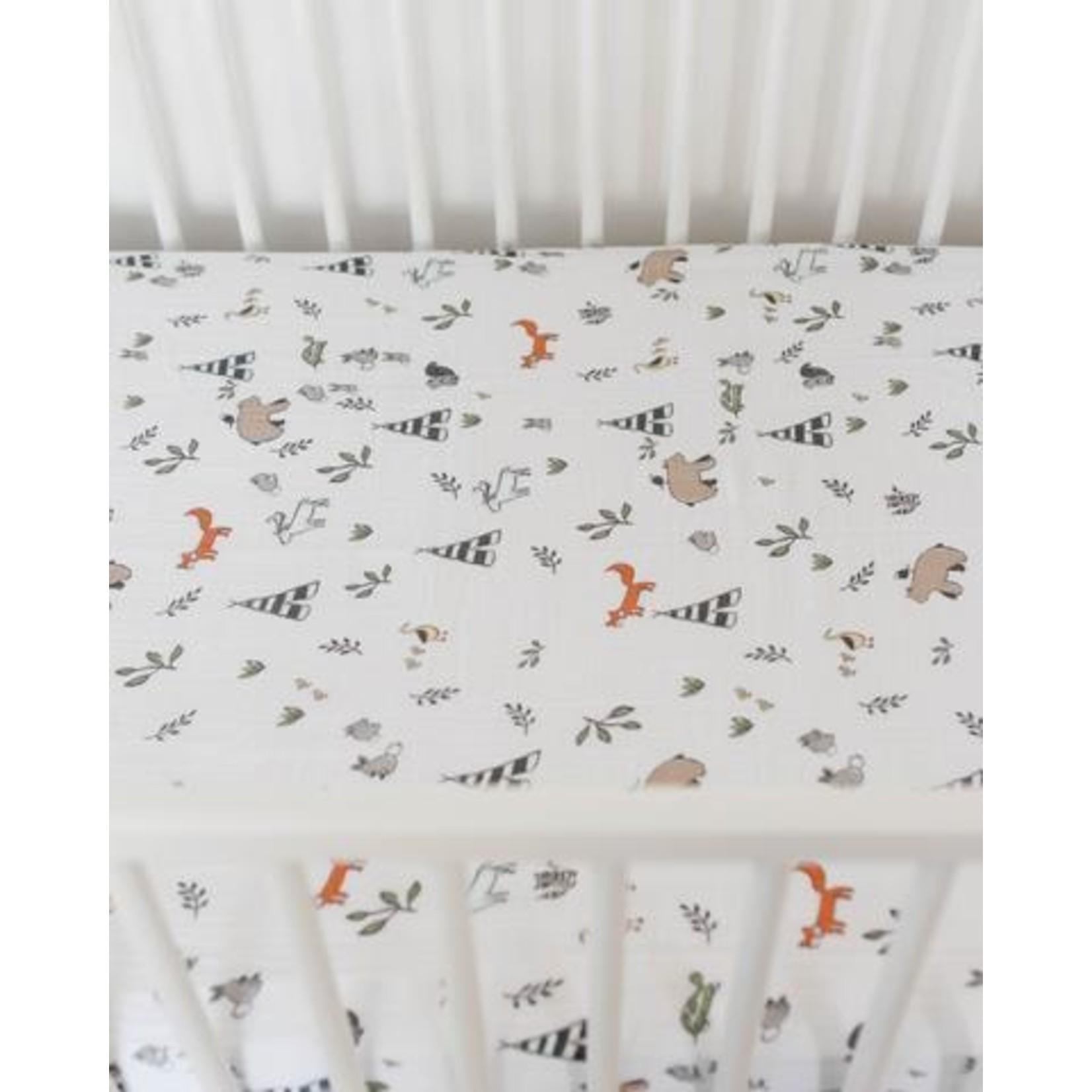 Little Unicorn Cotton Muslin Crib Sheet - Forest Friends
