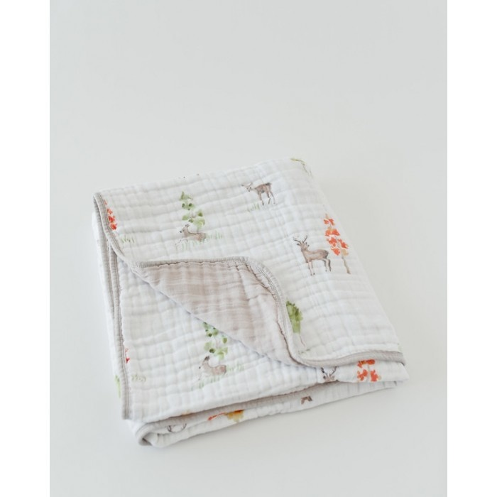 Little Unicorn Cotton Muslin Quilt - Oh Deer