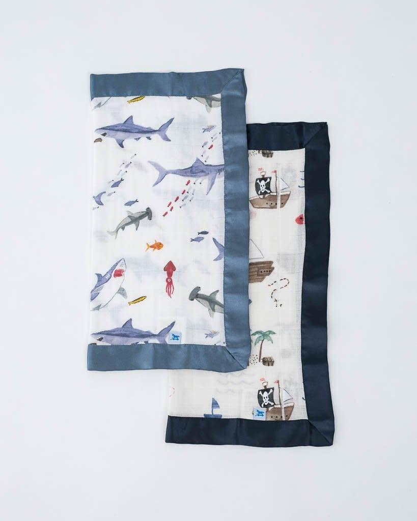 Little Unicorn Cotton Muslin Security Blankets - 2 pack - Shark