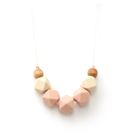 Lou Lou Lollipop Lollia Wood & Silicone Teething Necklace - Peach