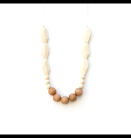Lou Lou Lollipop Joan Wood & Silicone Teething Necklace - Beige