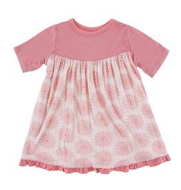 Kickee Pants Print Classic Short Sleeve Swing Dress Macaroon Mandala