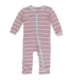 Kickee Pants Print Coverall with Zipper India Dawn Stripe