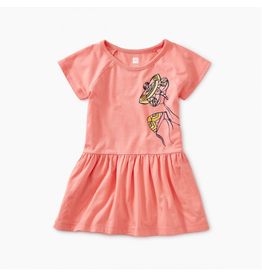 Tea Collection Kite Raglan Skirted Baby Dress Bubble Gum