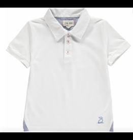 Me + Henry Pique Polo Shirt, White