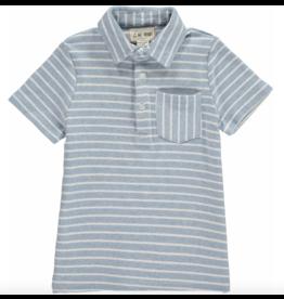 Me + Henry Blue Striped Polo Shirt, Boys