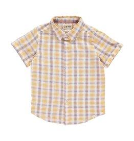 Me + Henry Yellow Plaid SS Woven Shirt