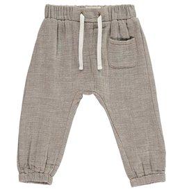 Me + Henry Cotton Tie-Cord Pants, Beige