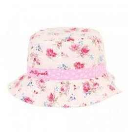 Millymook and Dozer Baby Girls Bucket Hat - Vintage Floral Pink S (0-12m)