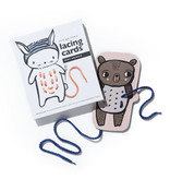 Wee Gallery Lacing Cards, Animals