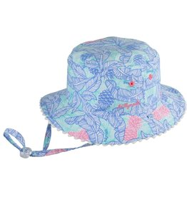 Millymook and Dozer Girls Bucket Hat - Tropics Blue L (5+y)