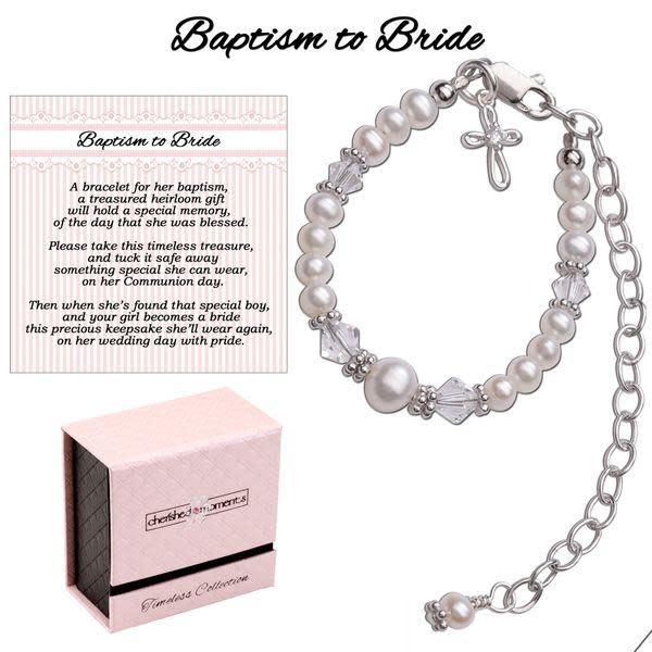 Cherished Moments Baptism to Bride Bracelet