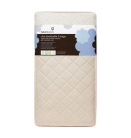 Naturepedic Naturepedic Ultra Breathable 2-Stage Organic Crib Mattress Bundle: Waterproof Crib Mattress with Ultra Breathable Cover